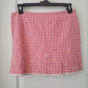 3/$25 Island Republic hot pink check skort sz 14